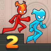 Fire and Water Stickman 2 : The Temple icon