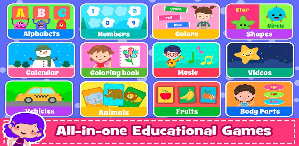 Kids Preschool Learning Games - 40 Toddler games