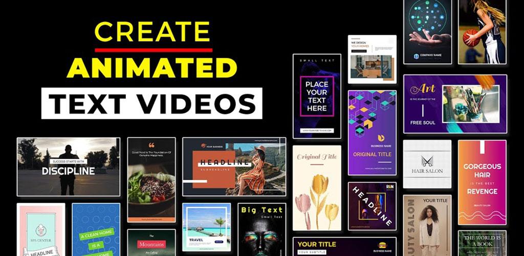 Text Animation Video Maker - Marketing Video Maker
