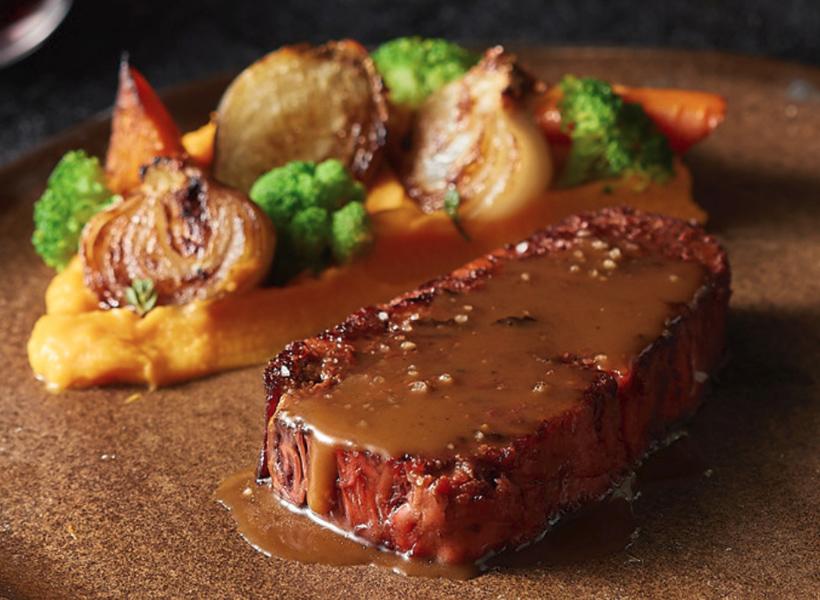 Daging Steak Hasil Cetakan Printer 3D