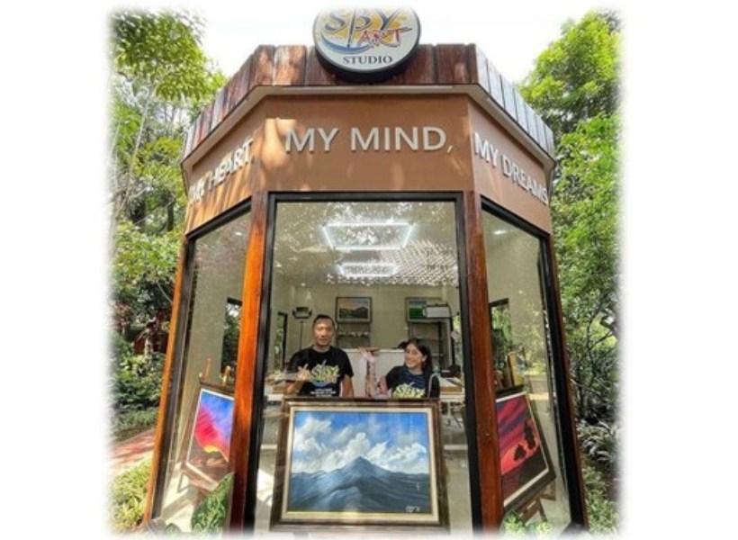 Keren! SBY Punya Studio Lukis Baru di Halaman Rumahnya