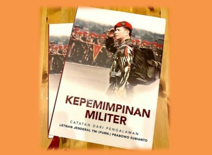 Ini Dia Buku Baru Prabowo tentang Kepemimpinan Militer