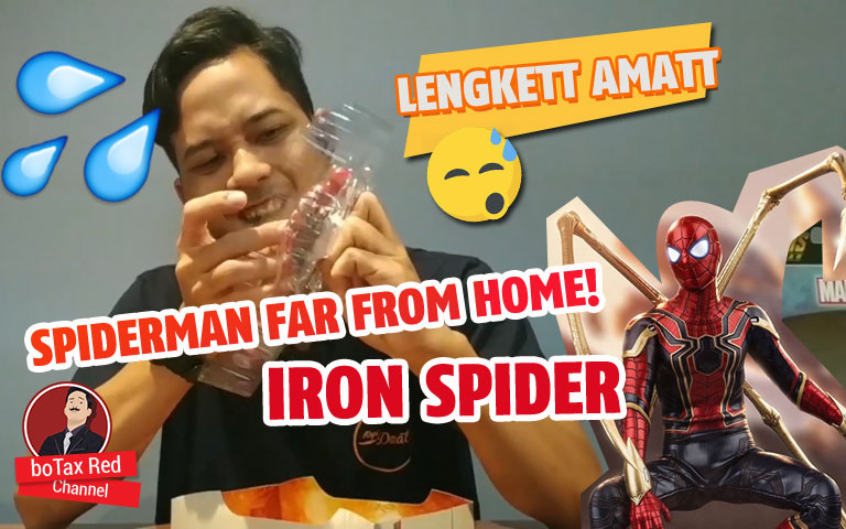 SPIDERMAN FAR FROM HOME!!! IRON SPIDER ACTION FIGURE