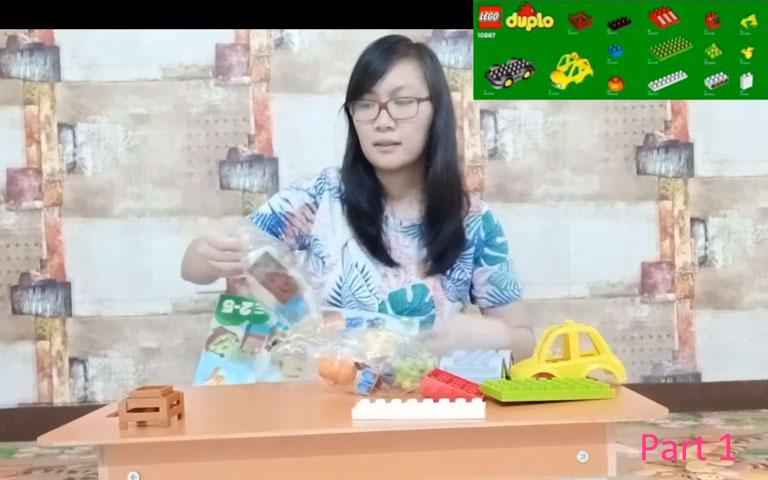 Ms. Lia Guru TK - Let's Play Lego Duplo (Part 1) Unboxing Lego Duplo - Mari Bermain Lego Duplo Bagian 1
