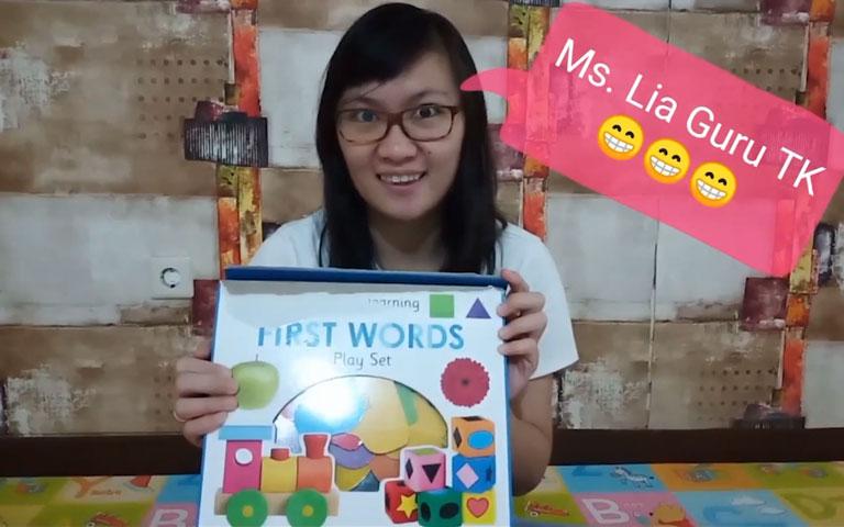Ms. Lia Guru TK - Let's Play the First Learning First Words Priddy Box Set - Mari Bermain Kumpulan Kata Kata Pertama