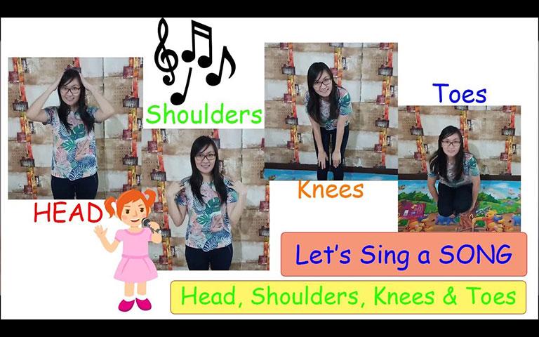 Ms. Lia Guru TK - Head, Shoulders, Knees and Toes Children Song - Mari Bernyanyi Bersama Lagu Anak