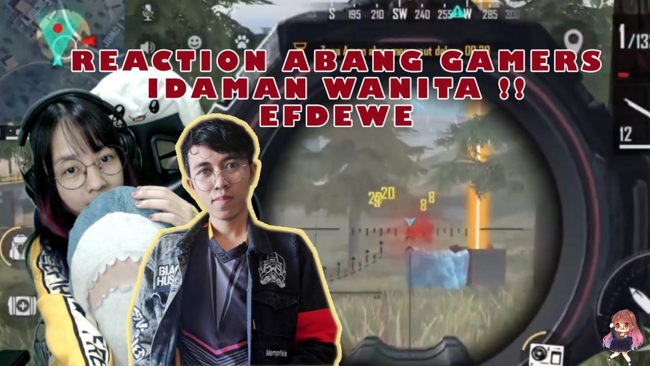 REACTION  ABANG GANTENG EFDEWE !! JAGO BANGET SOLO VS SQUAD FREE FIRE NYA