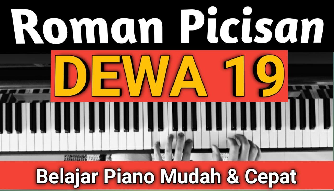 Yozar channel - Roman Picisan ( Dewa 19 ) Tutorial Piano