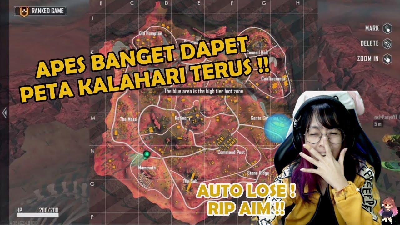 APES BANGET RANKED FREE FIRE DAPET PETA KALAHARI TERUS !! RIP AIM KU