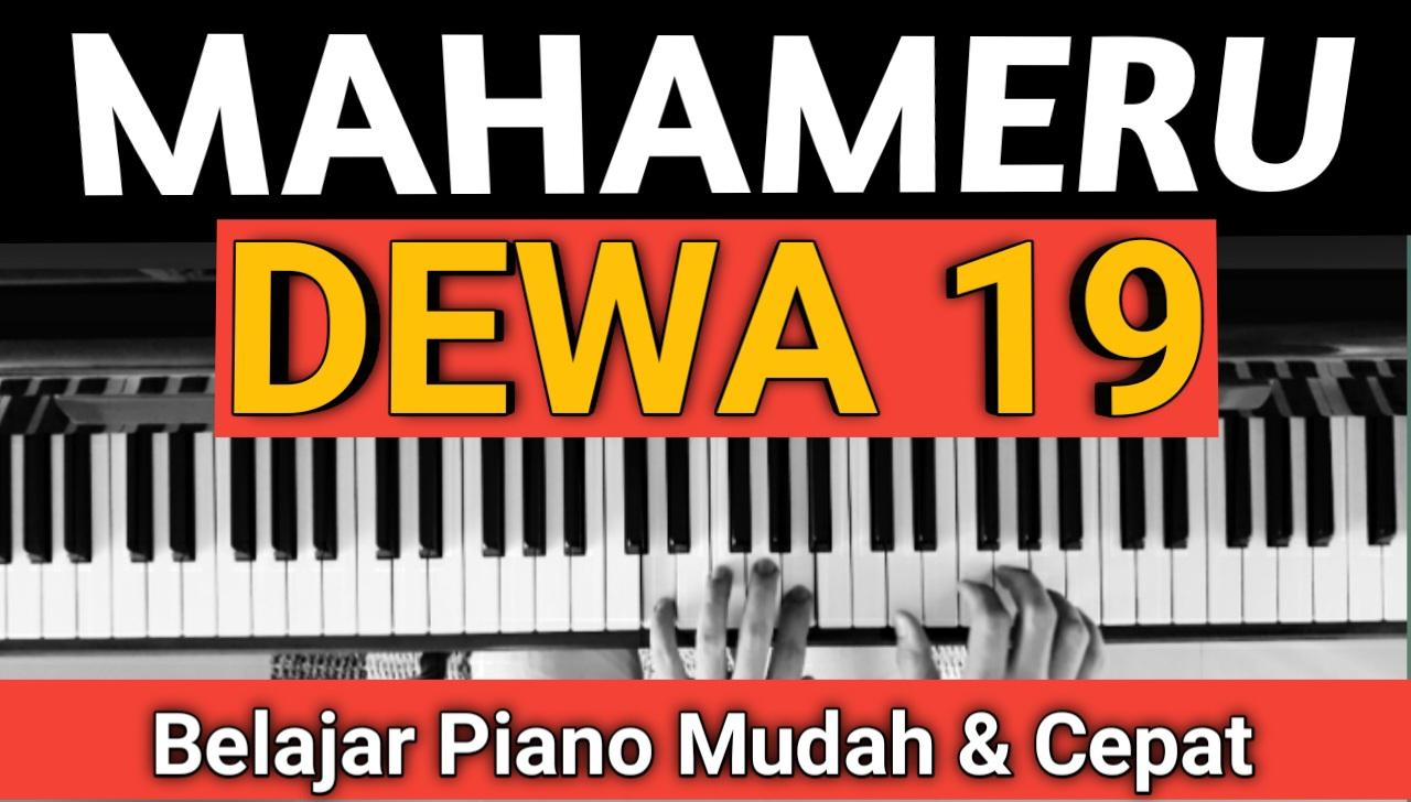 Yozar channel - MAHAMERU (DEWA 19) TUTORIAL PIANO