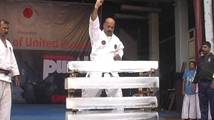 Ice Breaking by Sensei Sanjay Pawar At the Age of 50