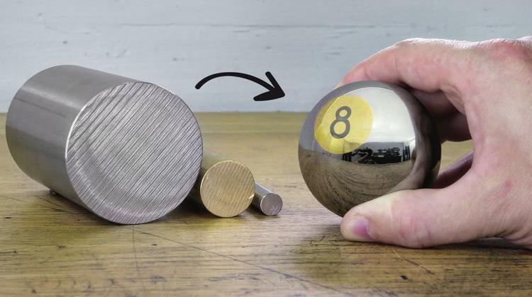 Membuat Bola dari Stainless Steel dan Kuningan