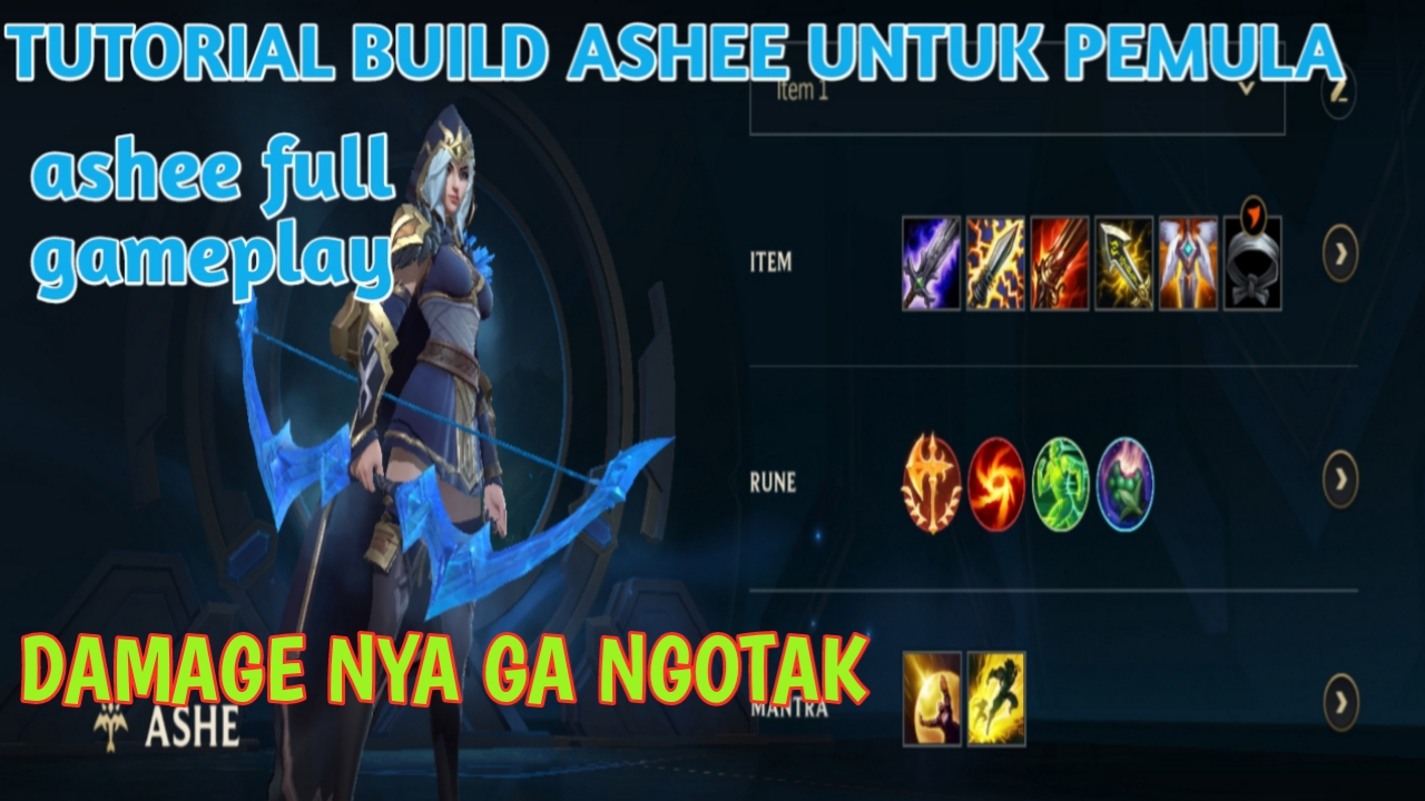 Rinel - Build Ashe Tersakit 2020 pemula, league of legends