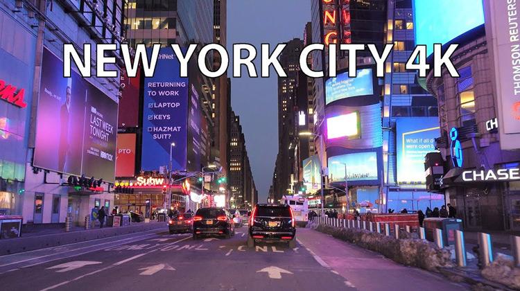 New York City 4K - Sunset Drive
