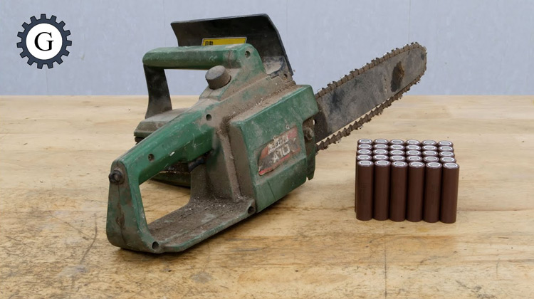 Electric Chainsaw Conversion AC 110V to DC 36V