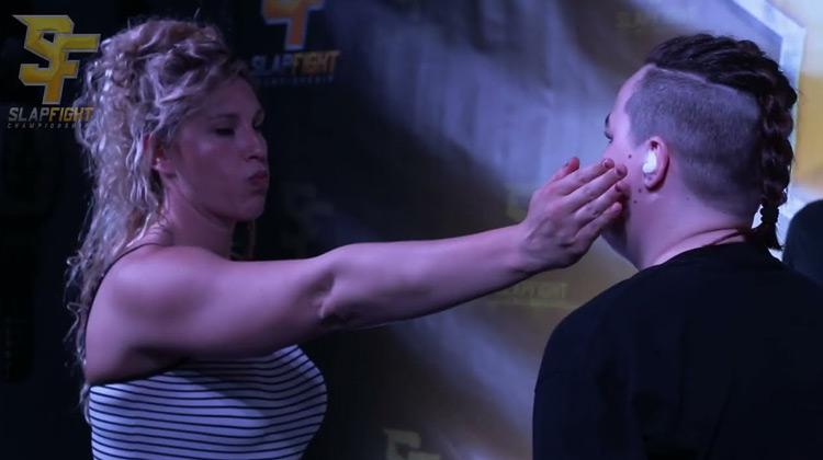 Show Moment - Tekka vs Deathslap - First Female SlapFIGHT