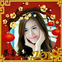 Chinese New Year photo frame 2019 icon