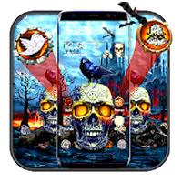 Fire Skull Night Parallax Theme icon