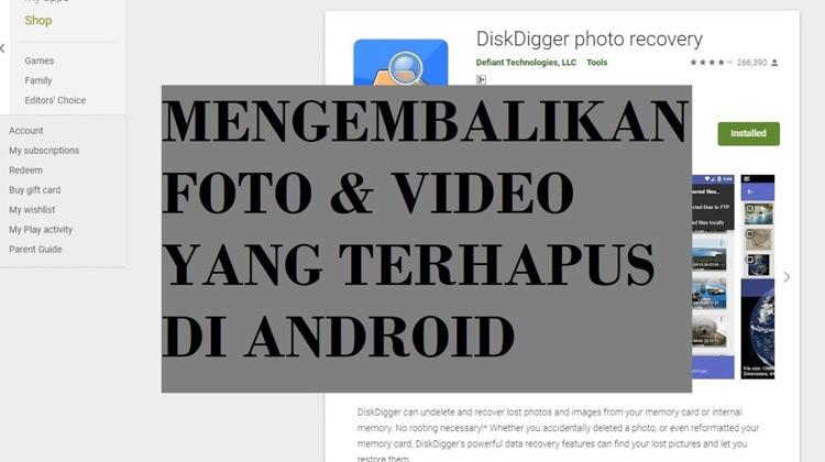 VDar - SenTrik - Mengembalikan Foto & Video di Ponsel Pacar yang sudah Dihapus